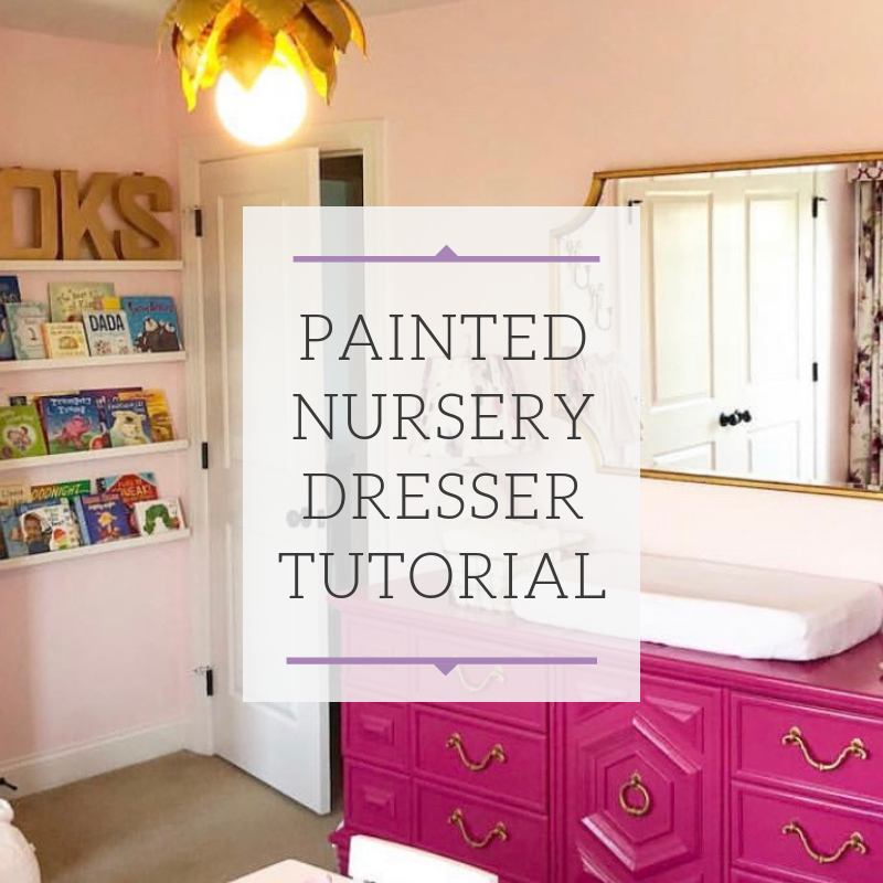 Painted Nursery Dresser Tutorial